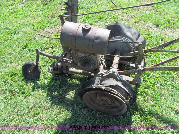 Antique walk behind gas powered sickle mower | Item C2175 |