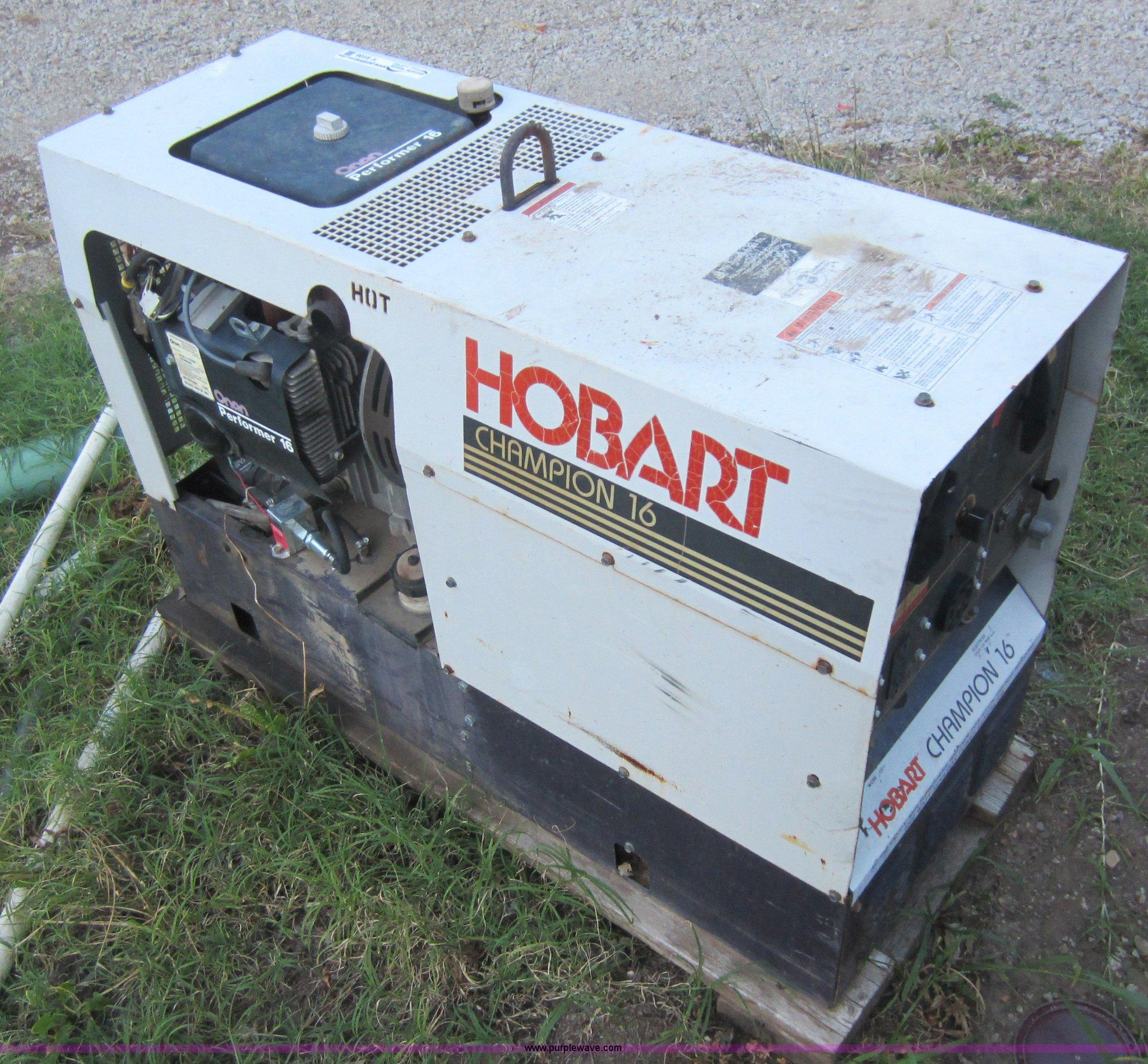 Hobart Tig Welder >> Hobart Champion 16 welder/generator | Item V9106 | SOLD ...