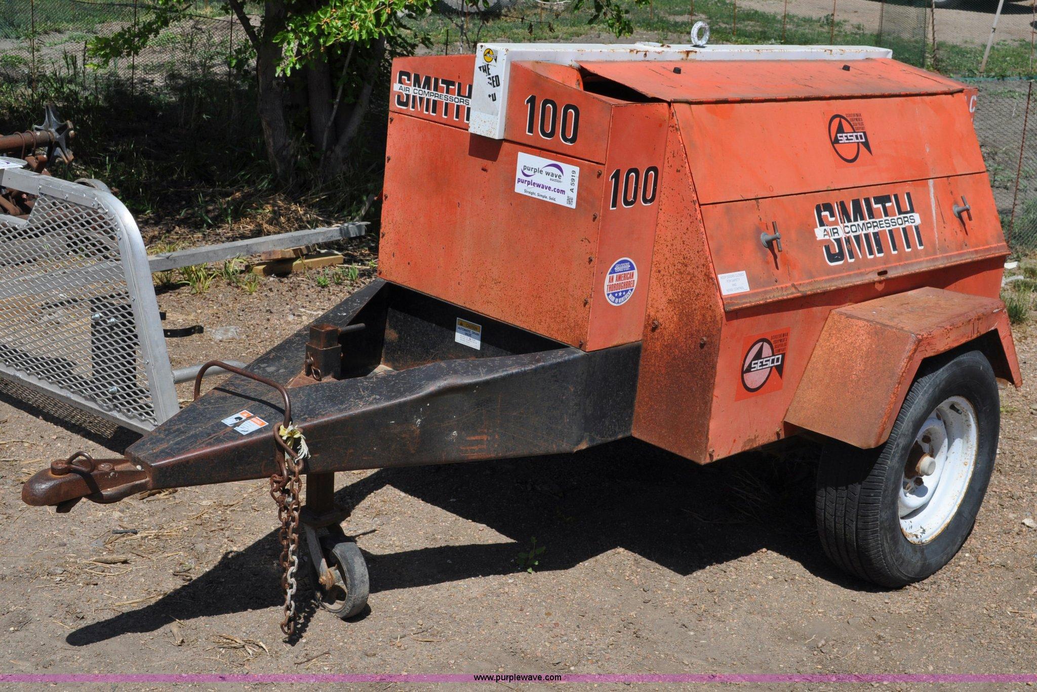 smith 100 air compressor item a5919 sold june 28 constr rh purplewave com smith 100 air compressor parts smith air compressor parts