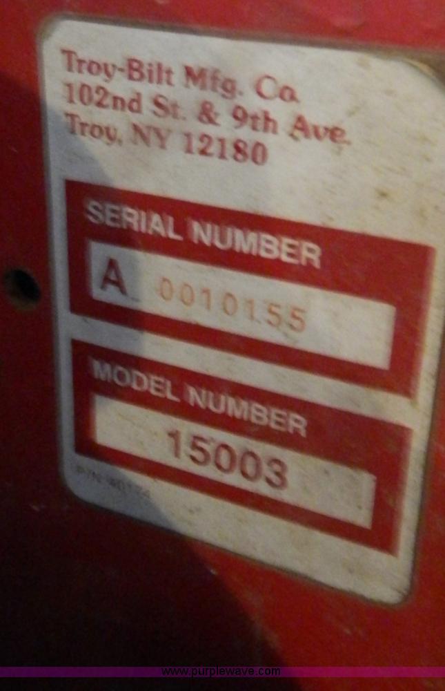 Troy-Bilt Trail Blazer 15003 sickle bar mower | Item T9957 |