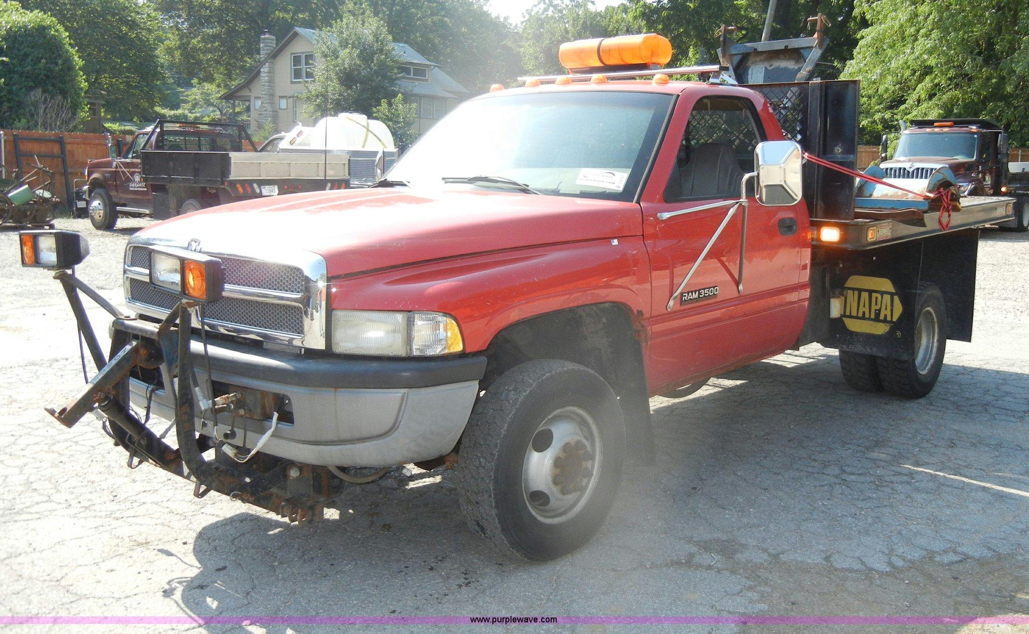 1996 dodge ram 3500 flatbed pickup truck in shawnee ks item d4157 sold purple wave 1996 dodge ram 3500 flatbed pickup