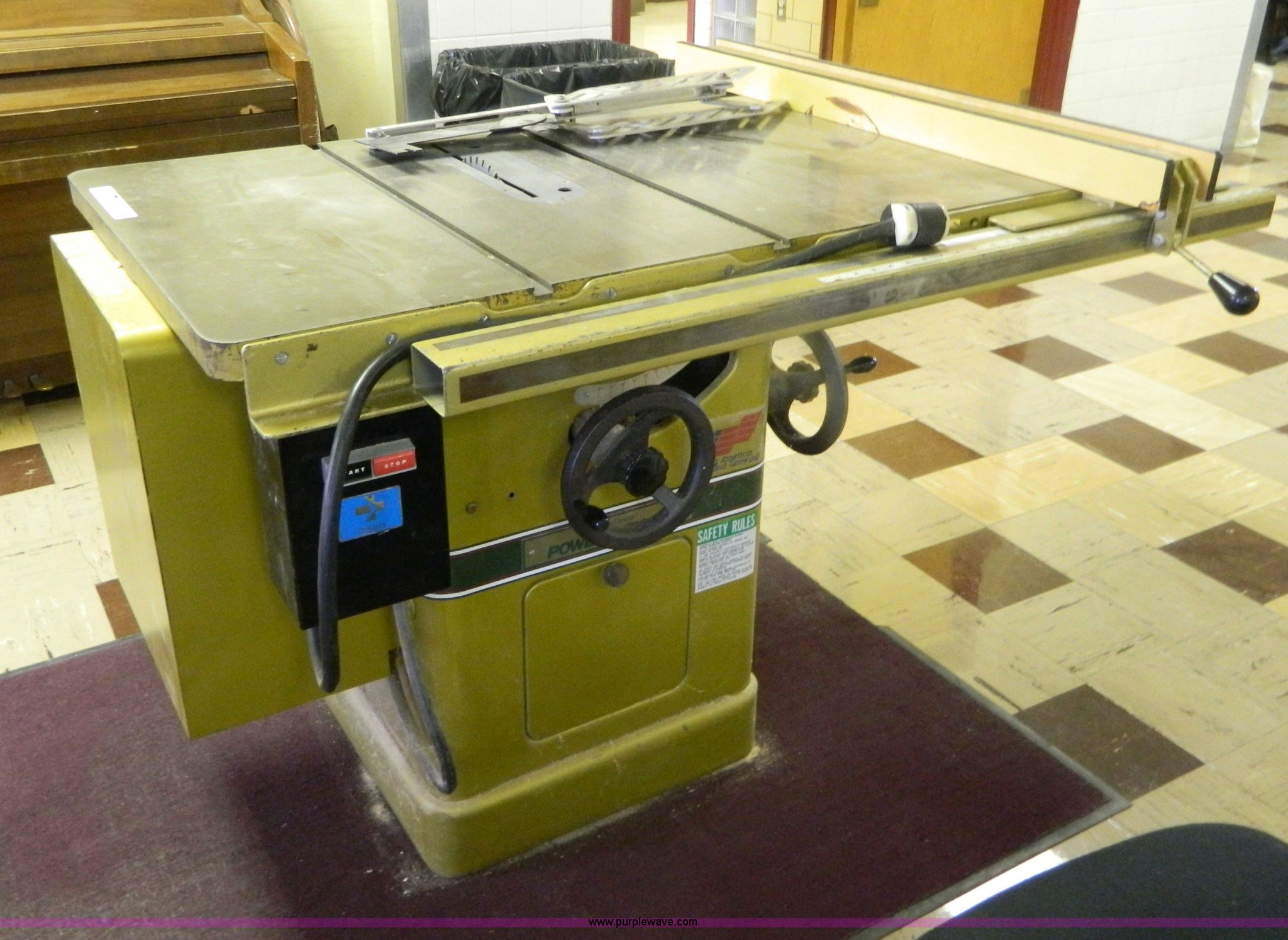 Powermatic 66 table saw   Item M9899   SOLD! July 10 Governm