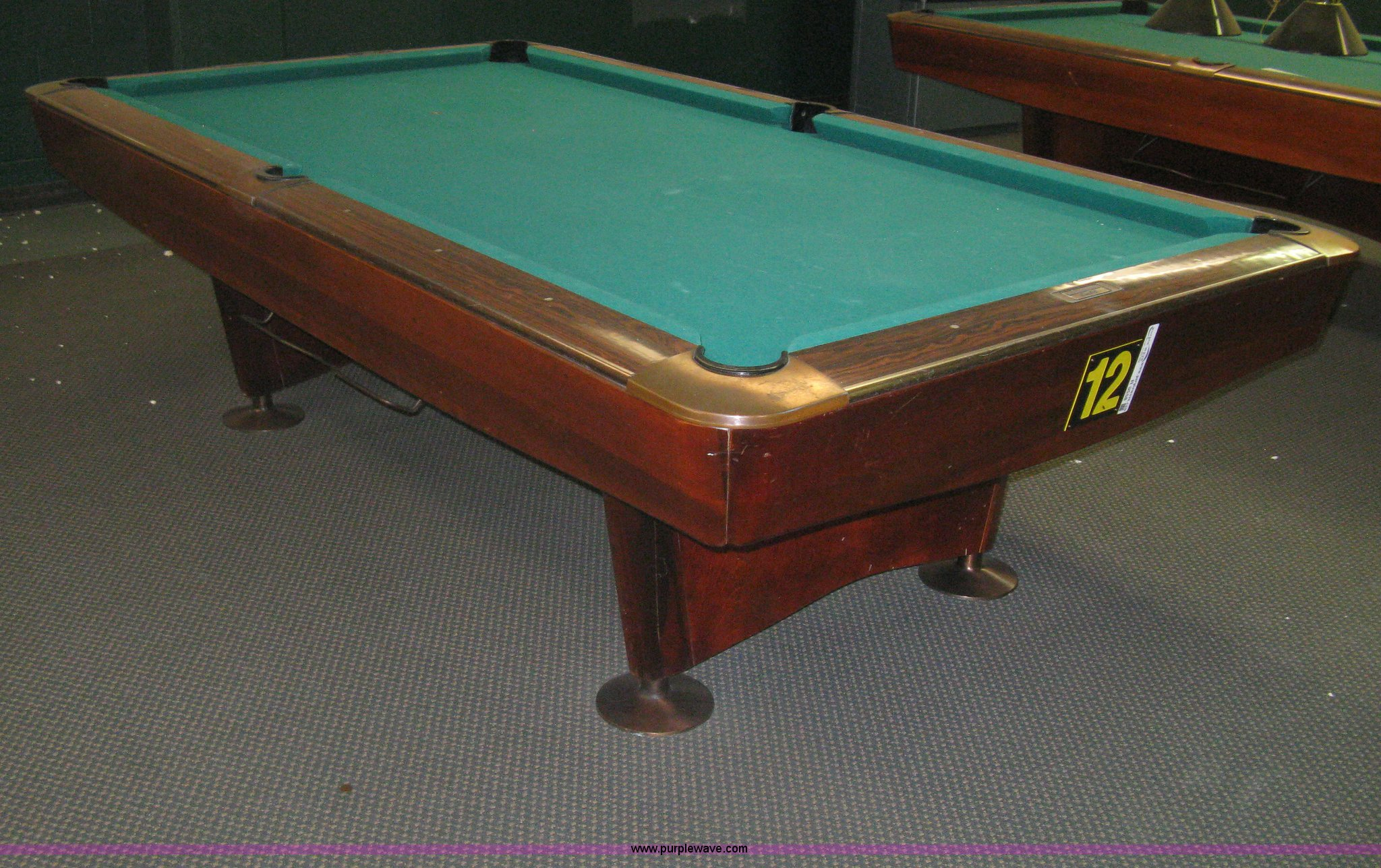 Brunswick Pro S Gold Crown Commercial Pool Table Item R - Brunswick gold crown pool table for sale