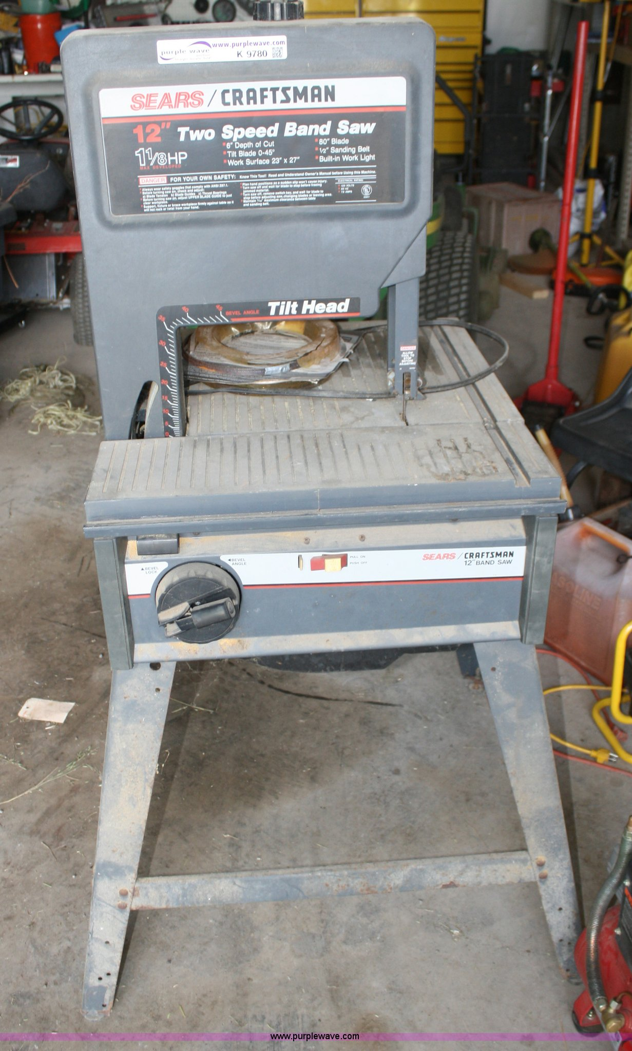 Sears Craftsman 12 Quot Band Saw Item K9780 Sold July
