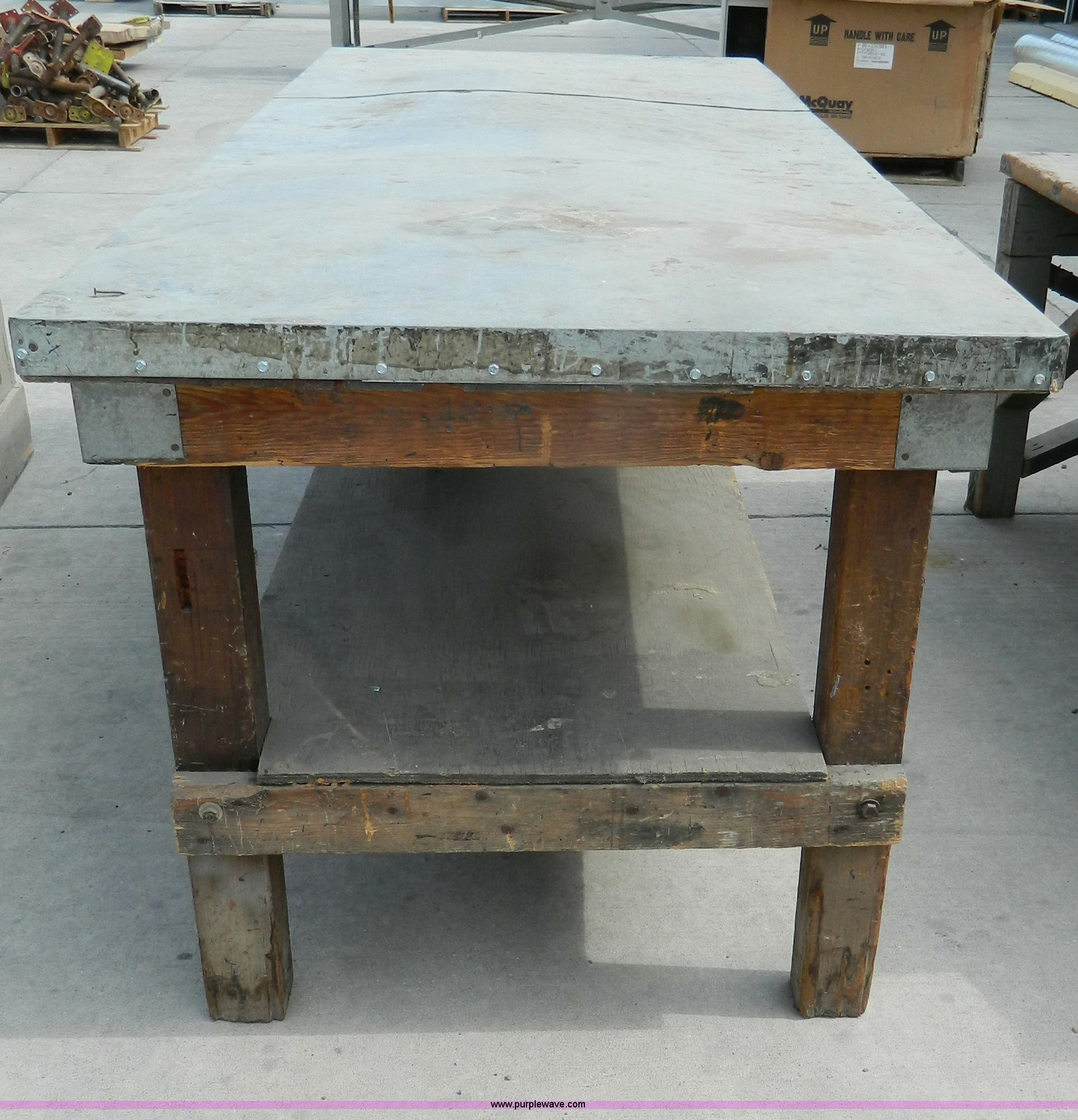 3 sheet metal fabrication work table Item M9818