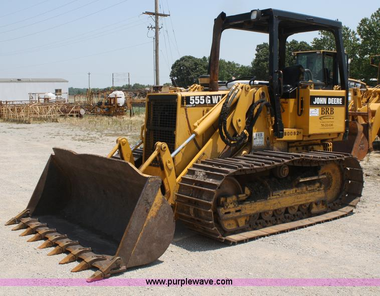 Track Loader For Sale >> 1996 John Deere 555g Wt Series Iv Track Loader Item B6843