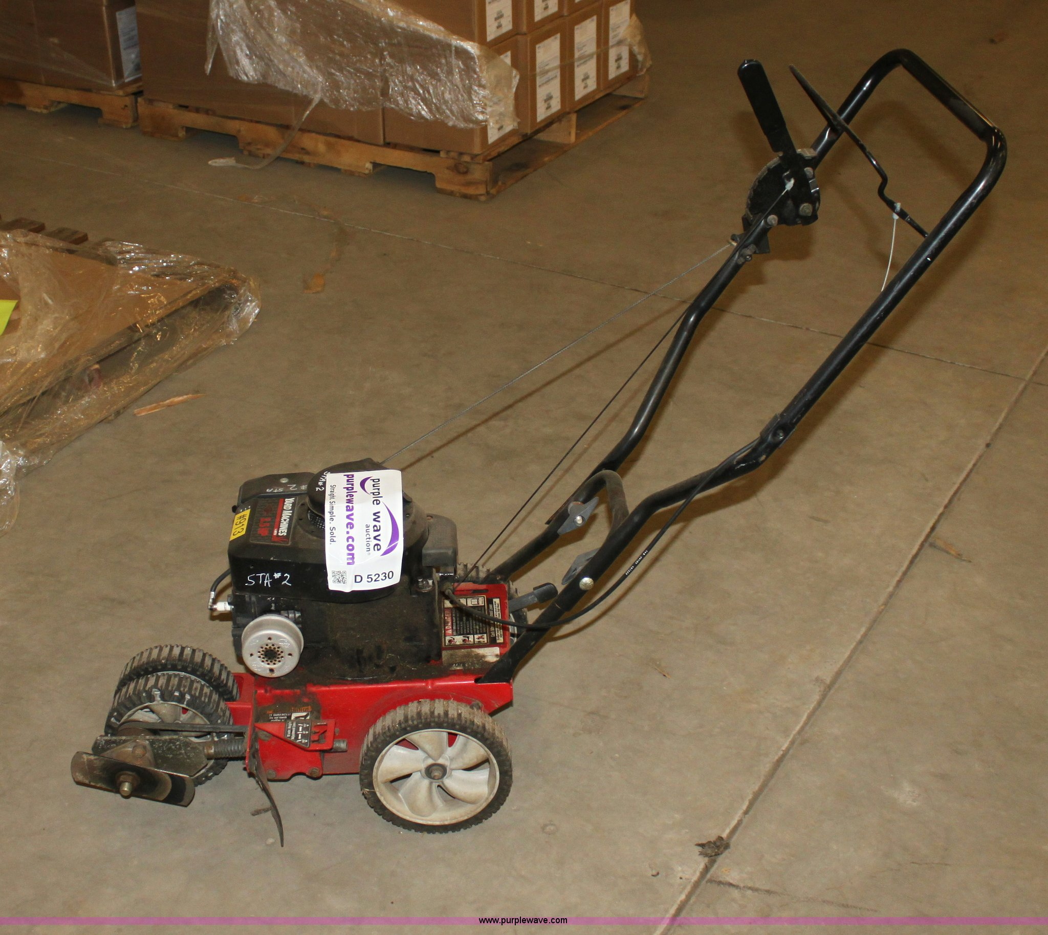 Yard Machines lawn edger | Item D5230 | SOLD! Tuesday August...