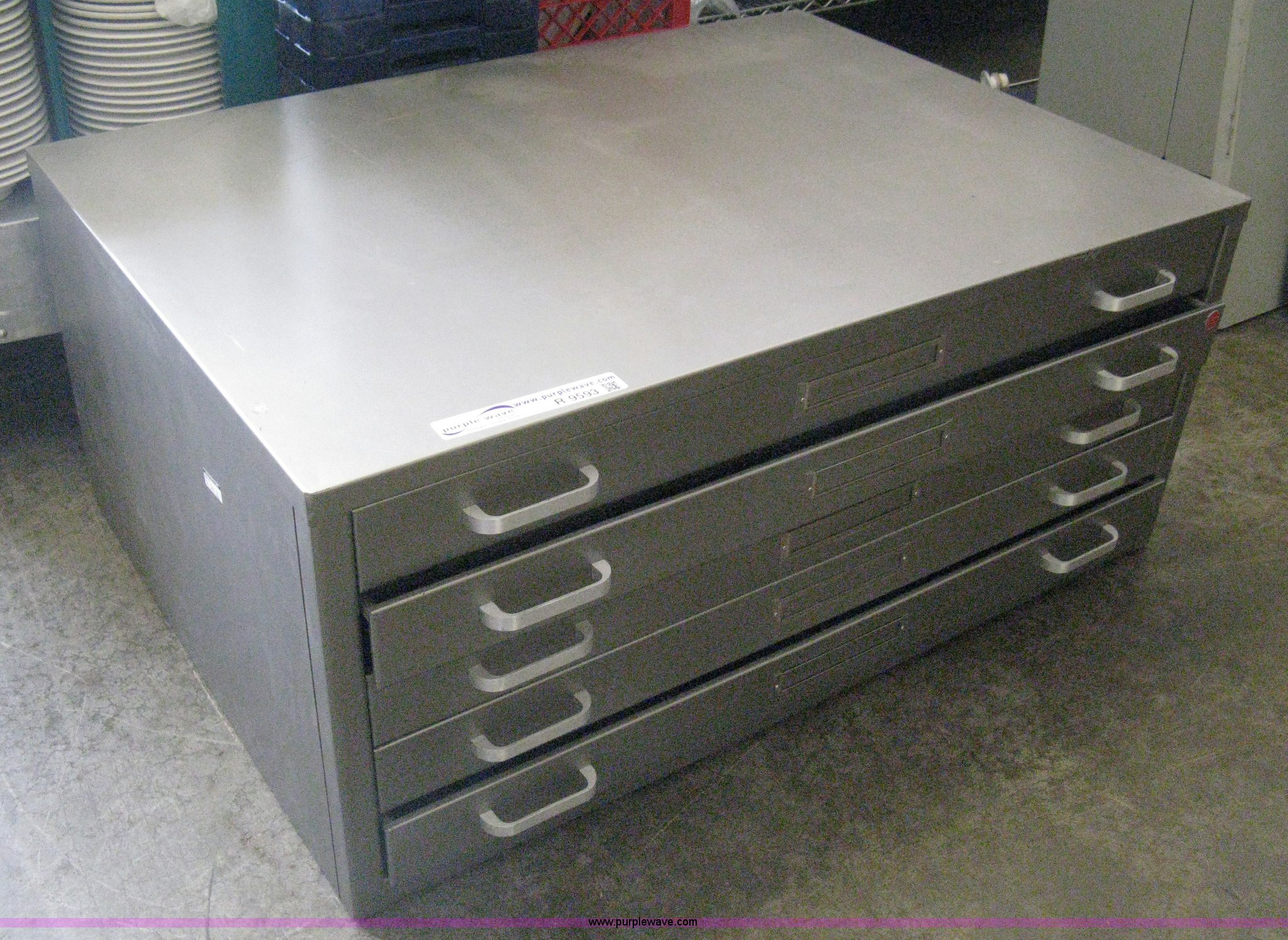 Five drawer steel blueprint cabinet item r9593 sold tue r9593 image for item r9593 five drawer steel blueprint cabinet malvernweather Choice Image