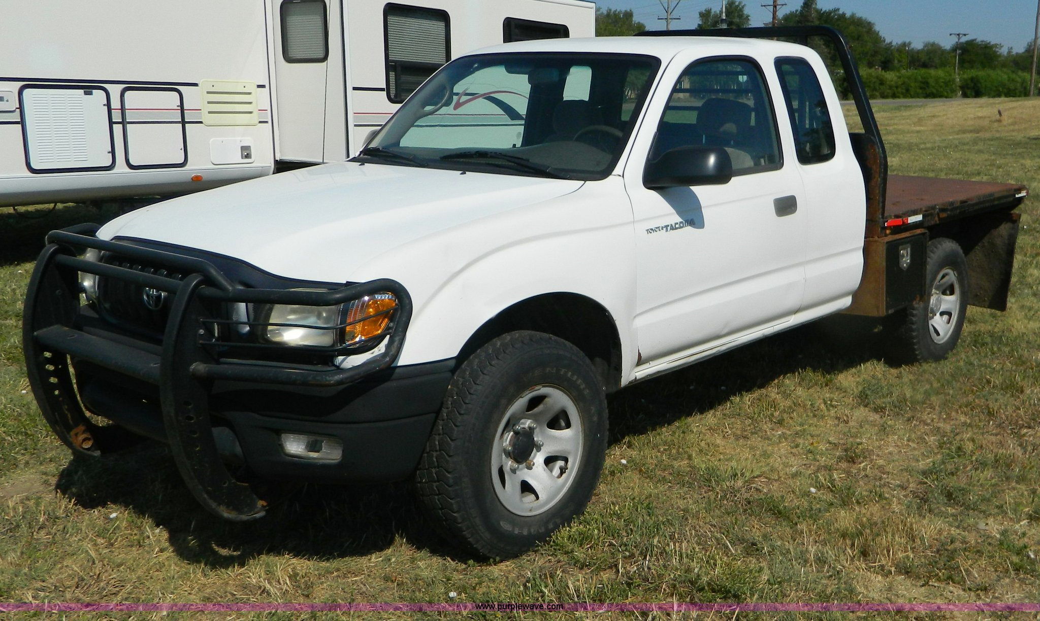 2001 Toyota Tacoma Flatbed Pickup Truck Item B3806 Sold