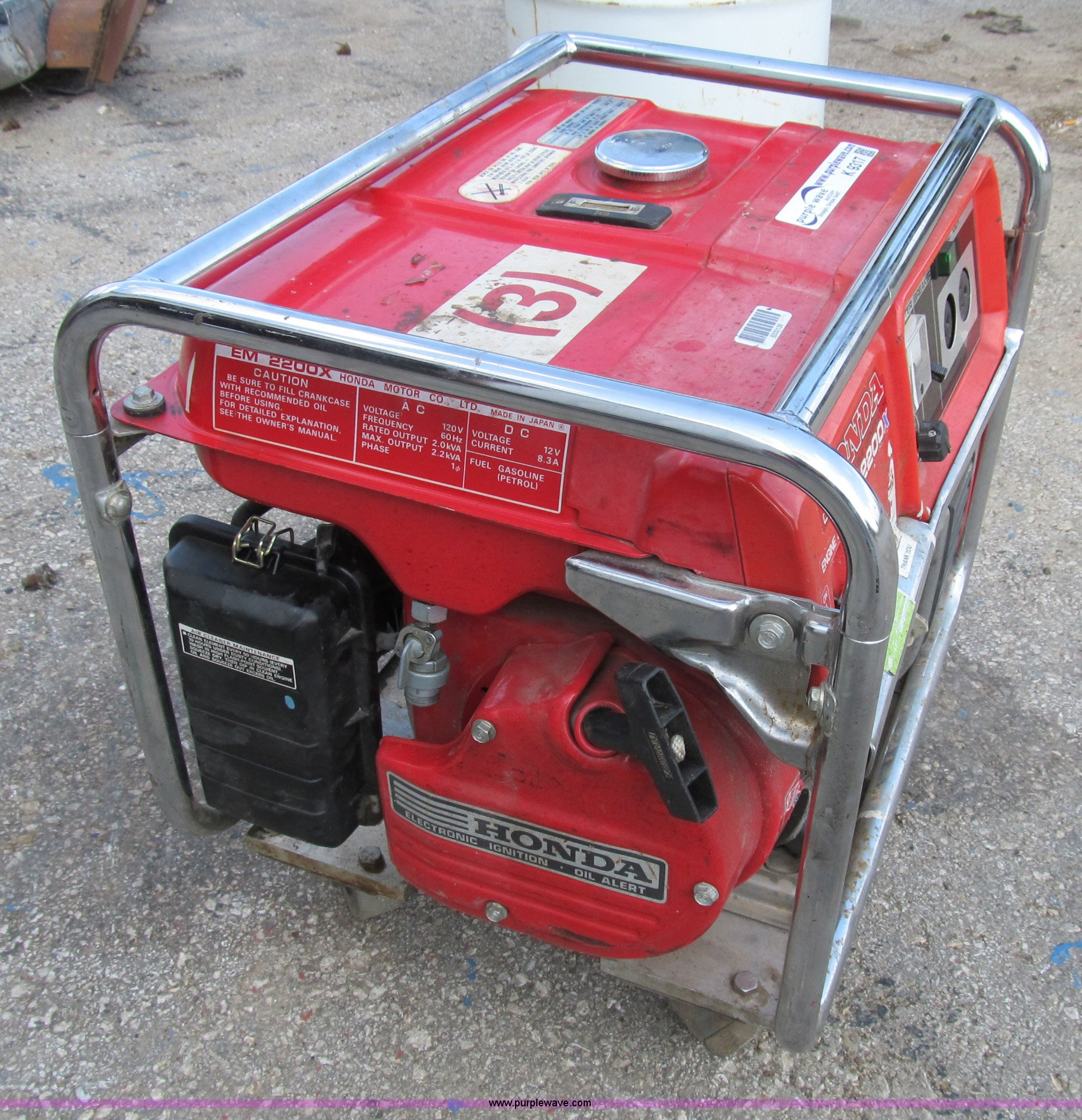 Honda EM2200X portable generator Item K9317