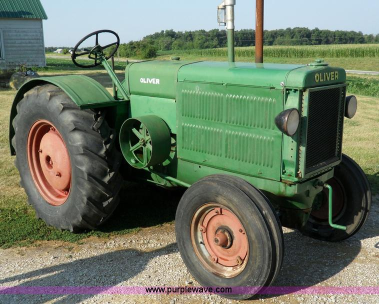 B on Antique Hand Crank Tractor Engine For