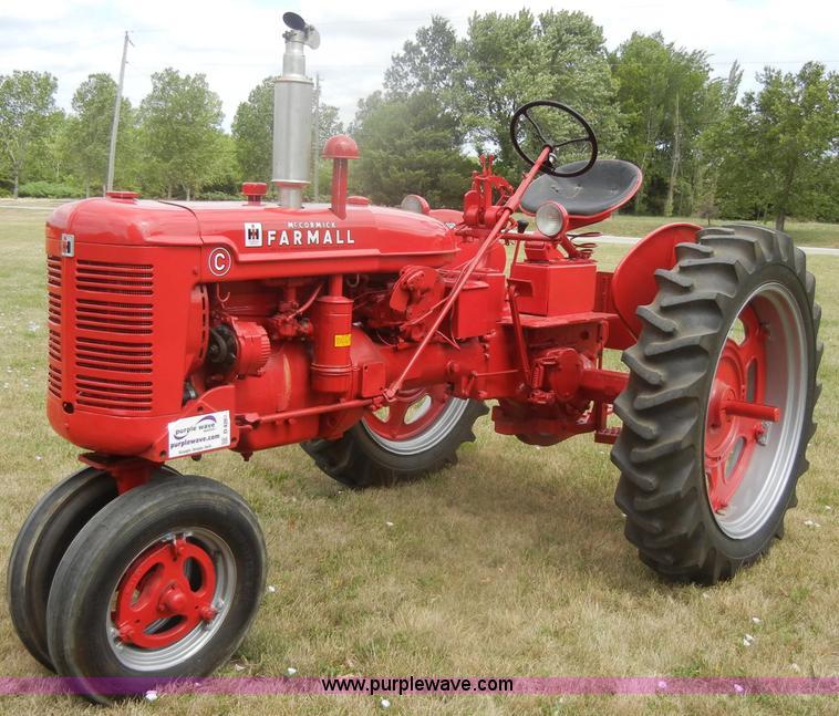 Farmall C Tractor : Mccormick farmall c tractor item d sold august