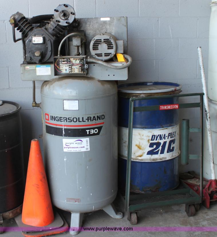 Ingersoll Rand T30 Air Compressor Item D5383 Sold