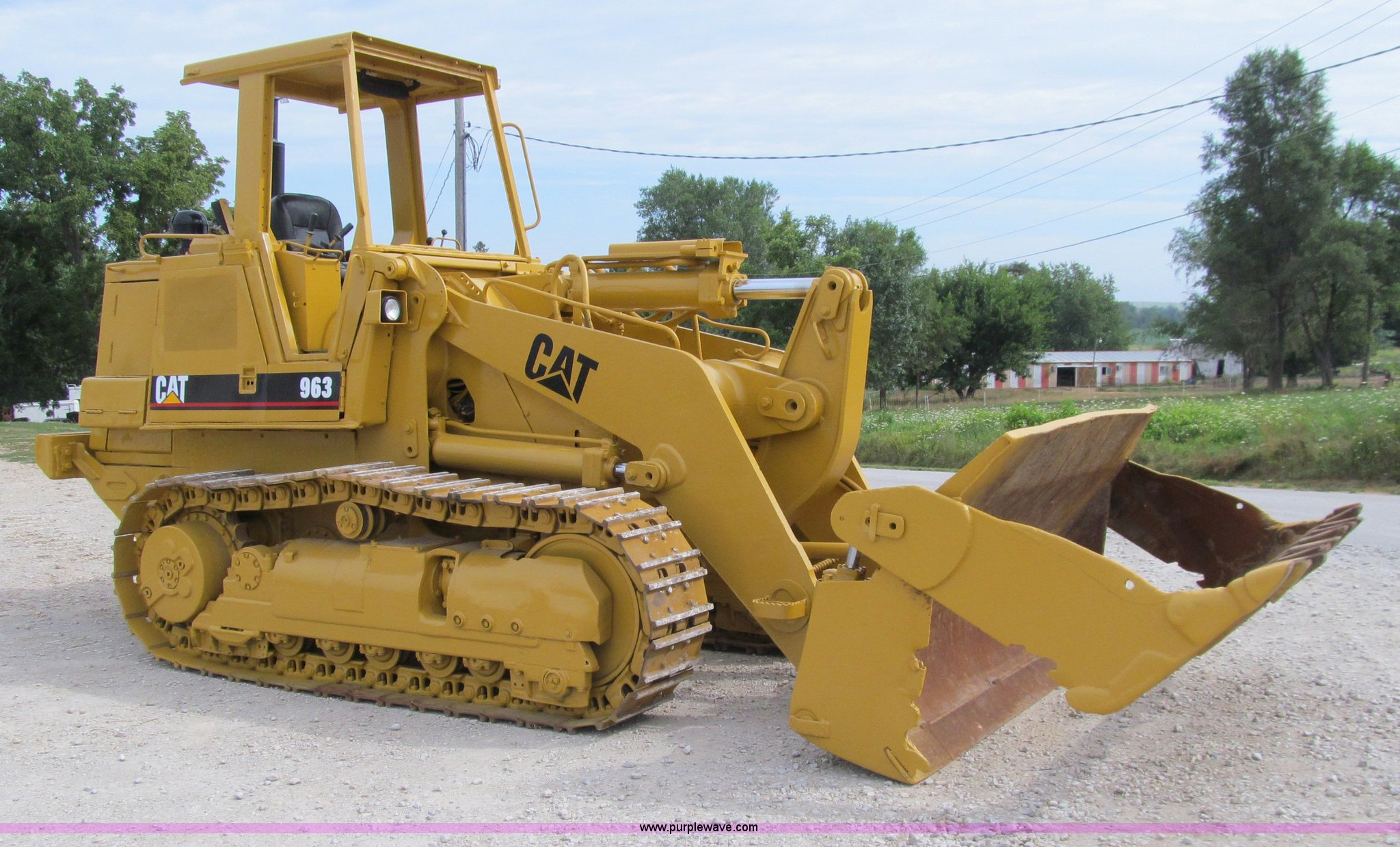 1987 Caterpillar 963 track loader | Item A8431 | SOLD! Thurs