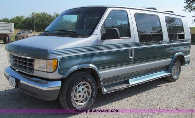 1993 ford e150 econoline conversion van item a8439 sold. Black Bedroom Furniture Sets. Home Design Ideas