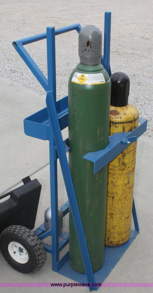 Oxygen Acetylene welding outfit with bottles   Item K9834  