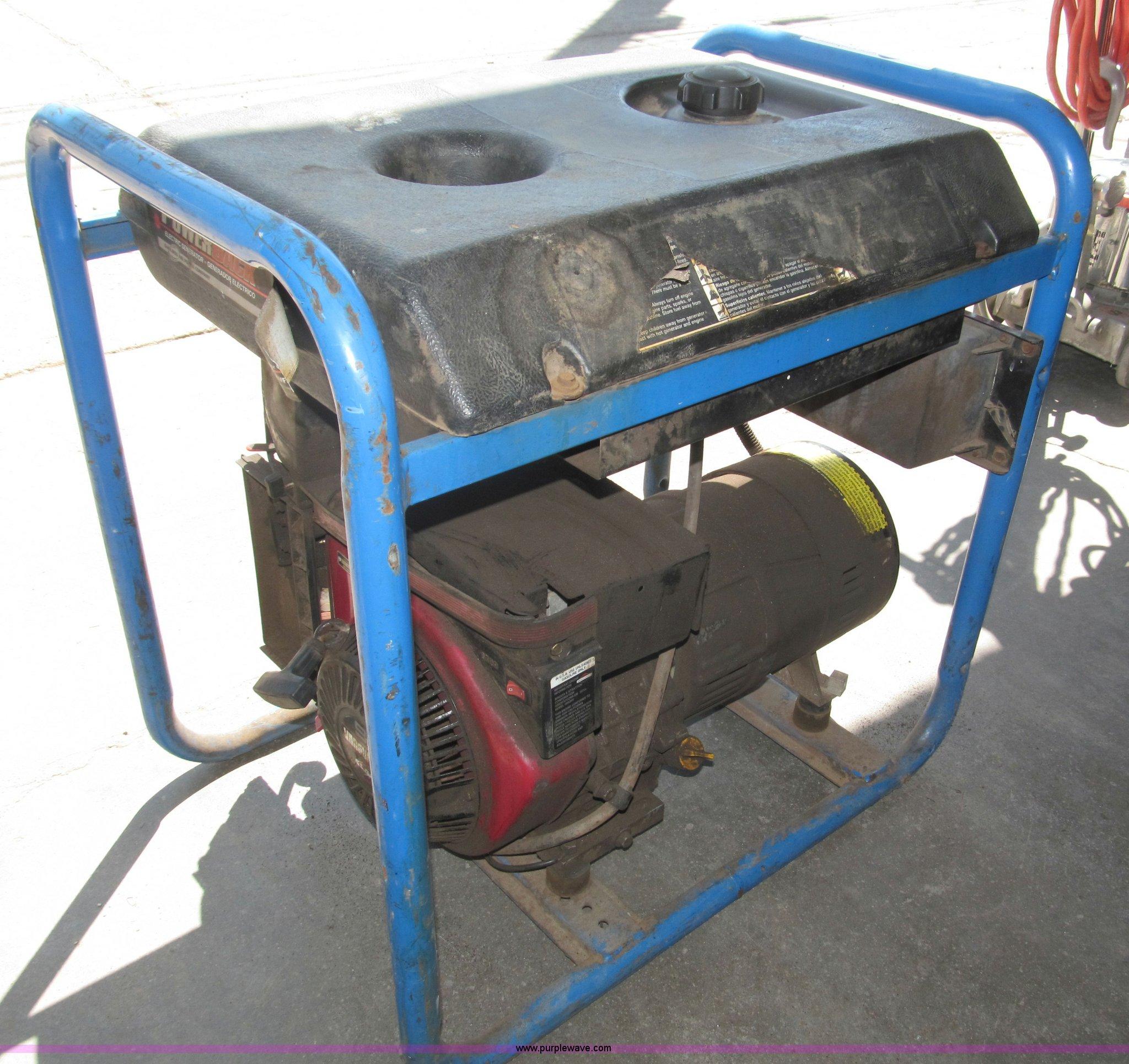 DevilBiss Powerback 5 000 watt generator Item K9525
