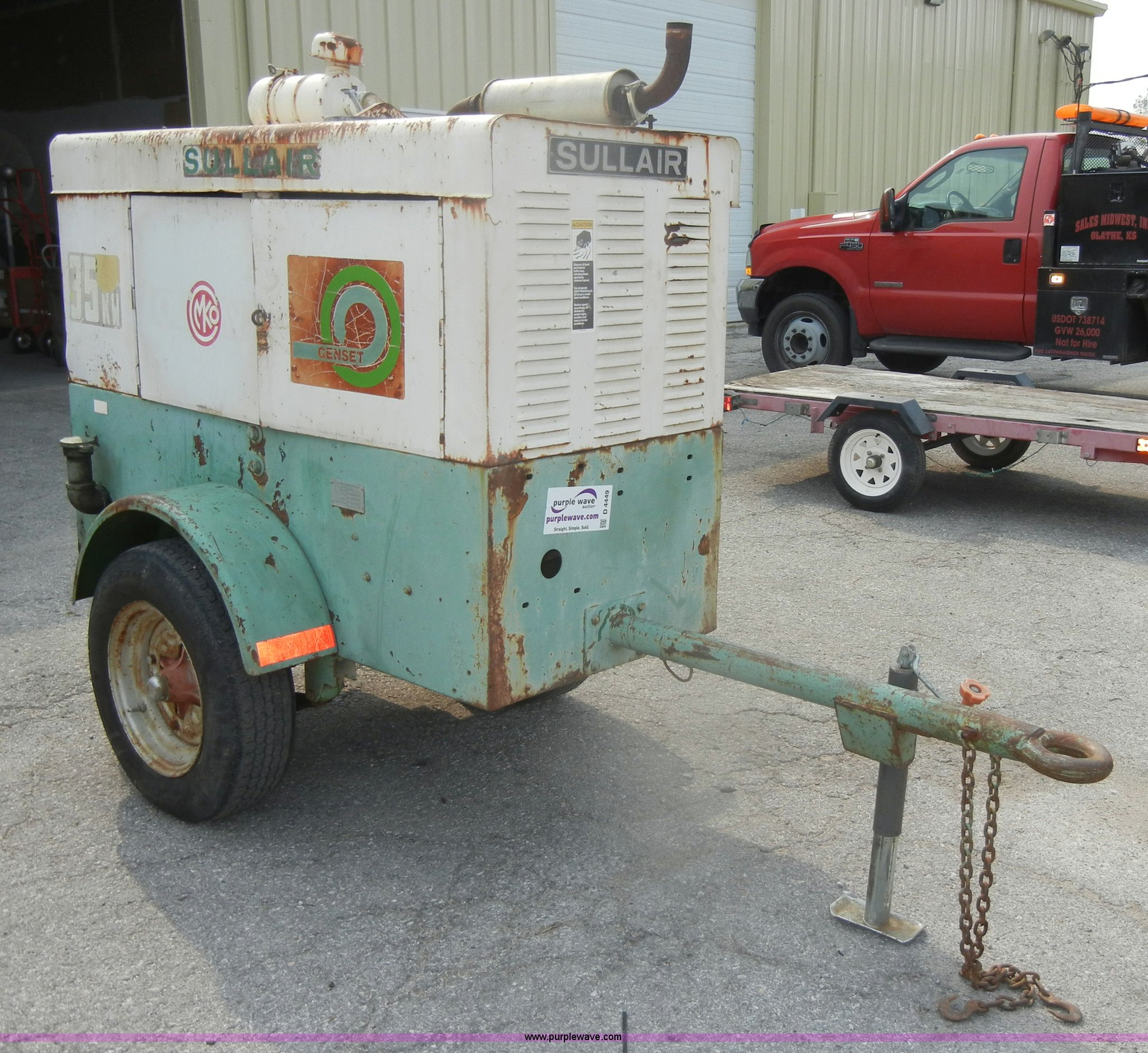 Sullair GenSet 35 kW generator Item D4449