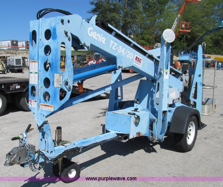 A8458 2007 genie tz 34 20 towable boom lift item a8458 sold! t genie tz 34 20 wiring diagram at bayanpartner.co