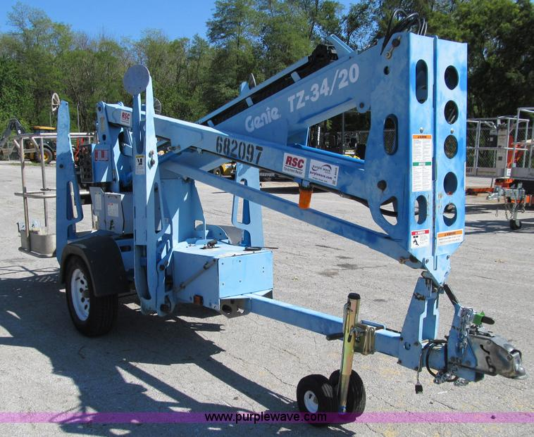 A8458A 2007 genie tz 34 20 towable boom lift item a8458 sold! t genie tz 34 20 wiring diagram at bayanpartner.co