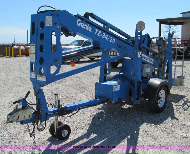 E3501 2008 genie tz 34 20 towable boom lift item e3501 sold! t genie tz 34 20 wiring diagram at bayanpartner.co