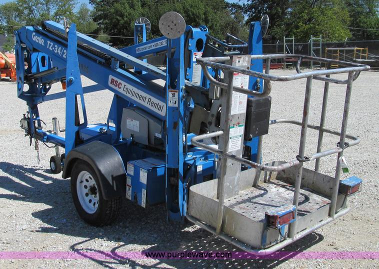 E3501B 2008 genie tz 34 20 towable boom lift item e3501 sold! t genie tz 34 20 wiring diagram at bayanpartner.co