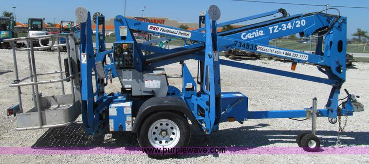 E3501E 2008 genie tz 34 20 towable boom lift item e3501 sold! t genie tz 34 20 wiring diagram at bayanpartner.co