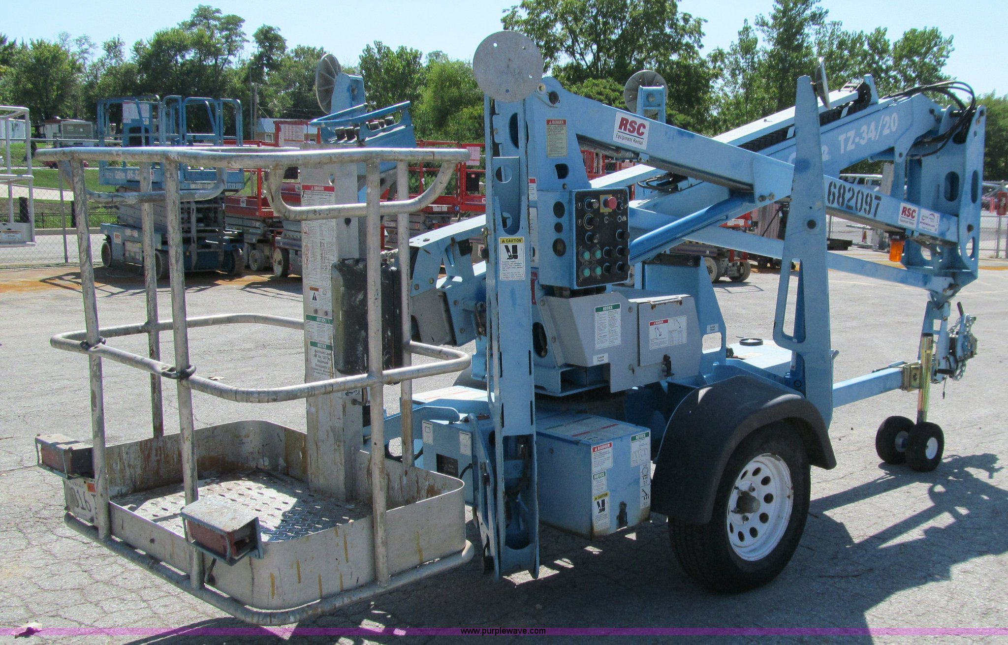 2007 Genie Tz 34 20 Towable Boom Lift Item A8458 Sold T Wiring Diagram For Full Size In New Window