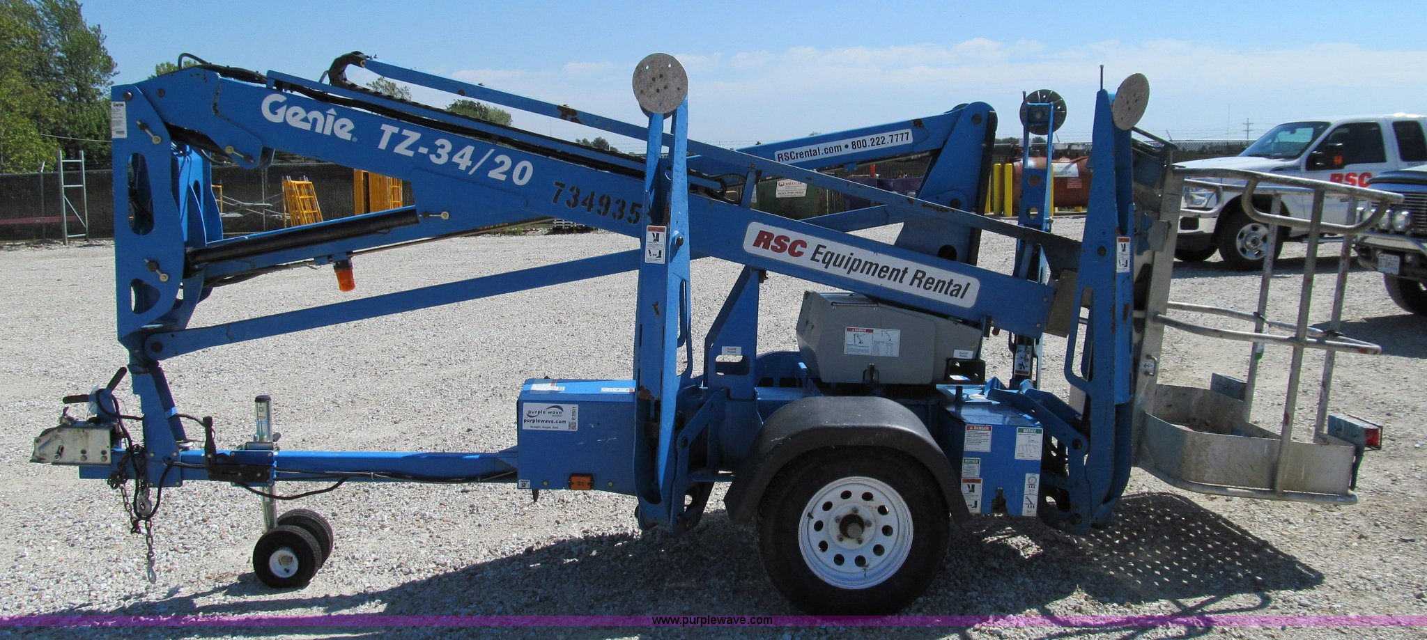 E3501A 2008 genie tz 34 20 towable boom lift item e3501 sold! t genie tz 34 20 wiring diagram at bayanpartner.co