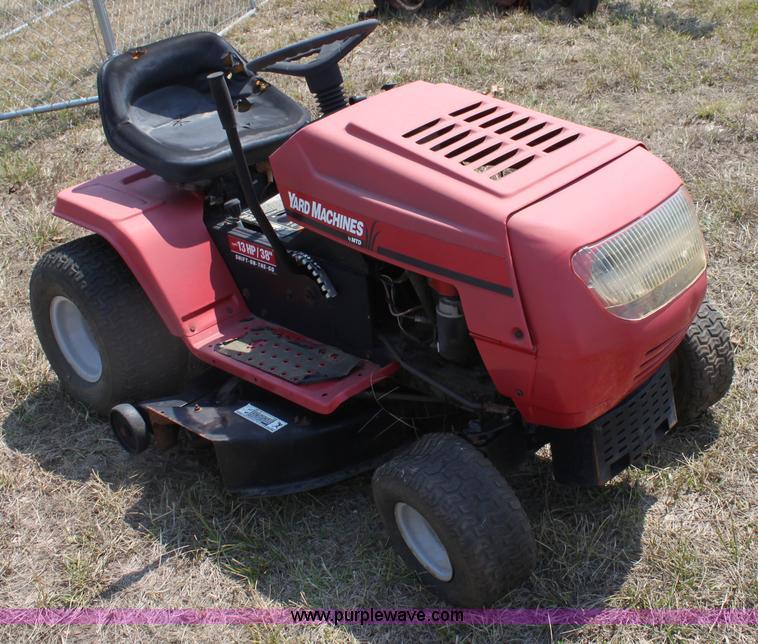 Mtd Lawn Tractor : Mtd yard machines lawn mower item g sold