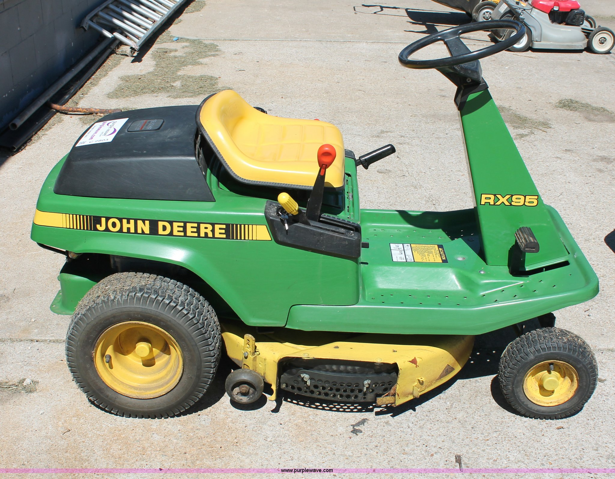 Manual For John Deere Rx95. John Deere Rx95 Lawn Mower Item C2803 Sold September 19 Rh Purplewave Lx173 Manual Js46. John Deere. Find John Deere Rx95 Belt Diagram At Scoala.co