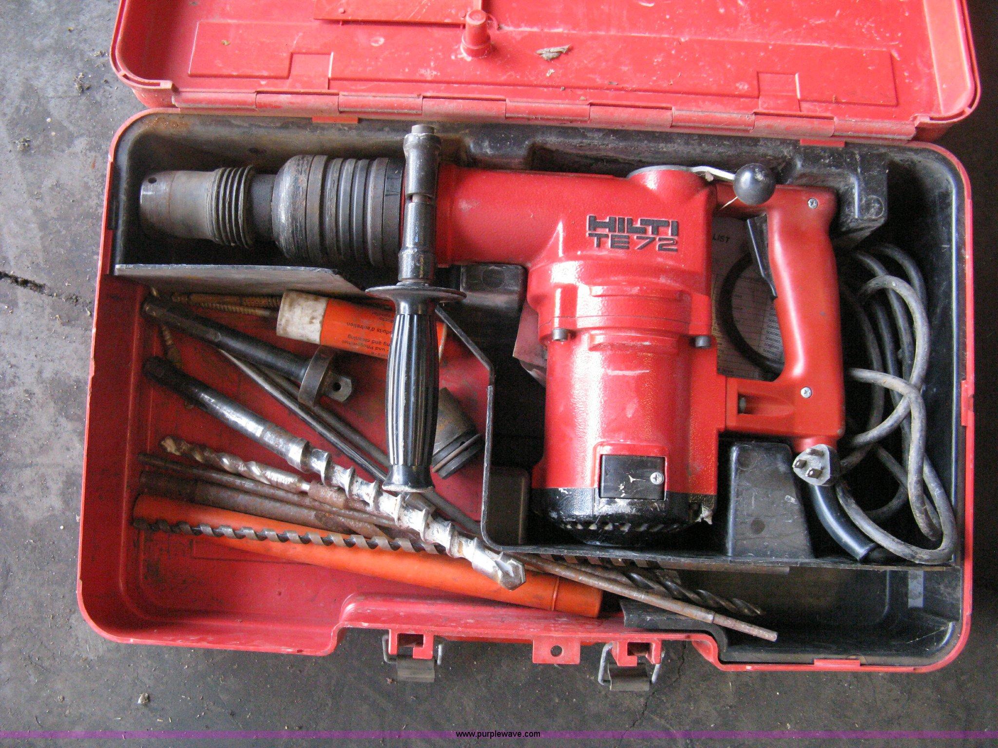 Hilti tools hammer drill te72 manual