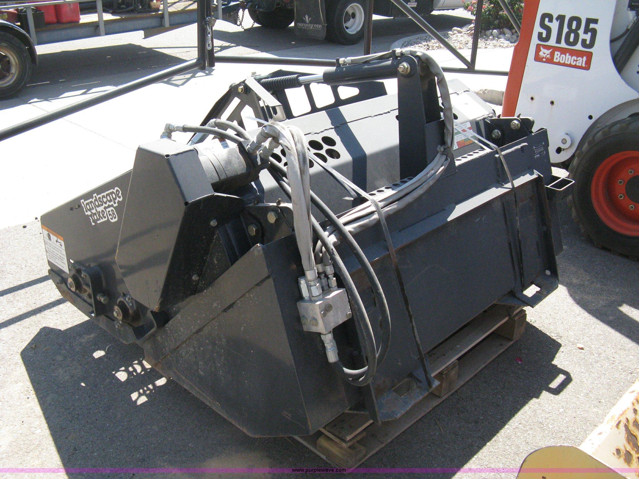 2007 bobcat lr5b landscape rake skid steer attachment item