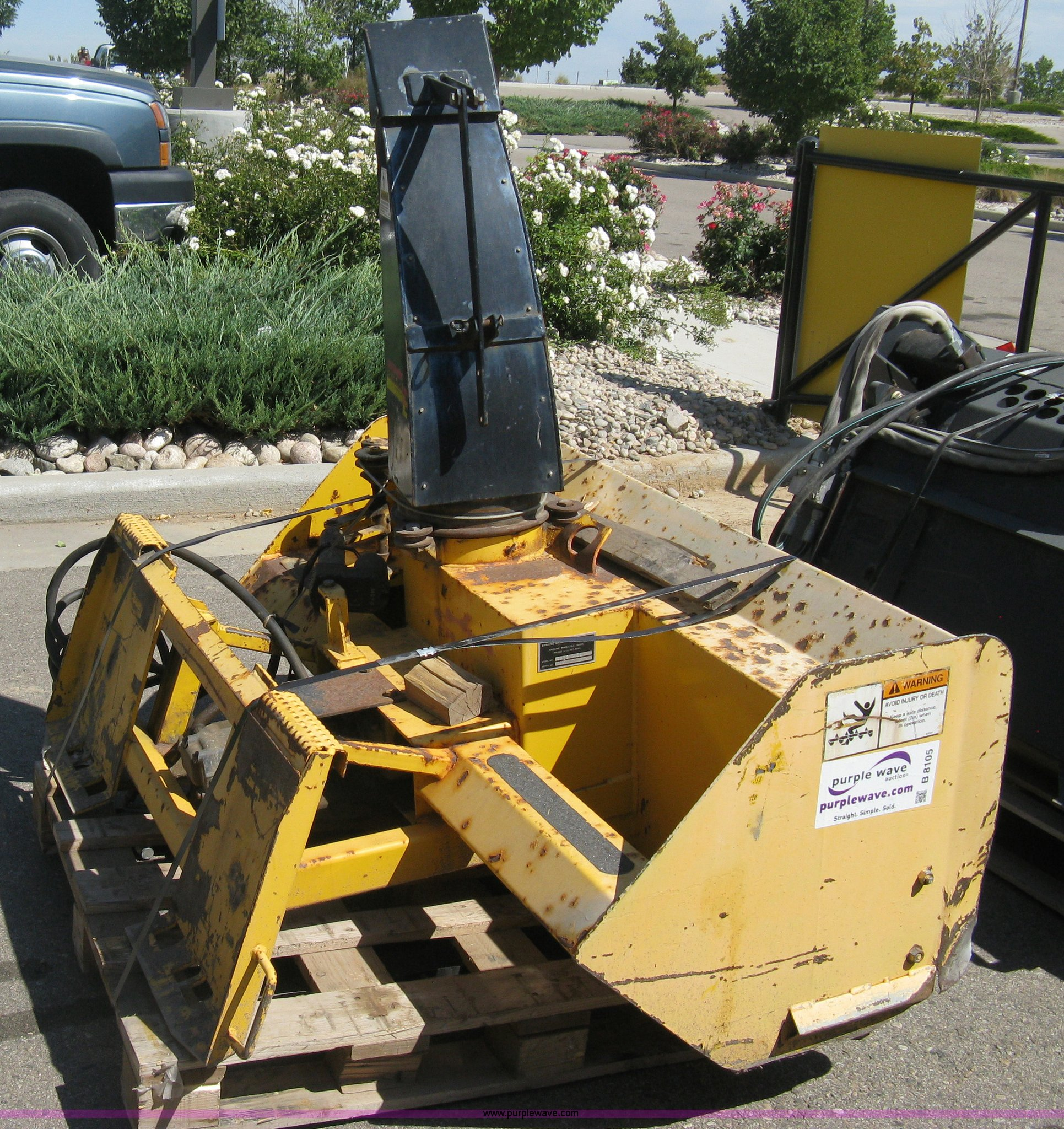 ... Erskine 1812 snow blower skid steer attachment Full size in new window  ...