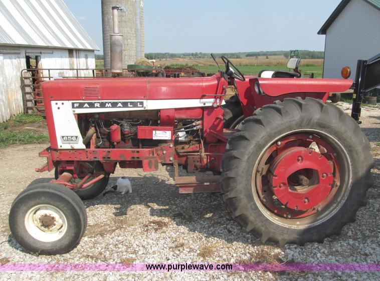 International 656 Tractor With Loader : Ih farmall tractor item b sold wednesday
