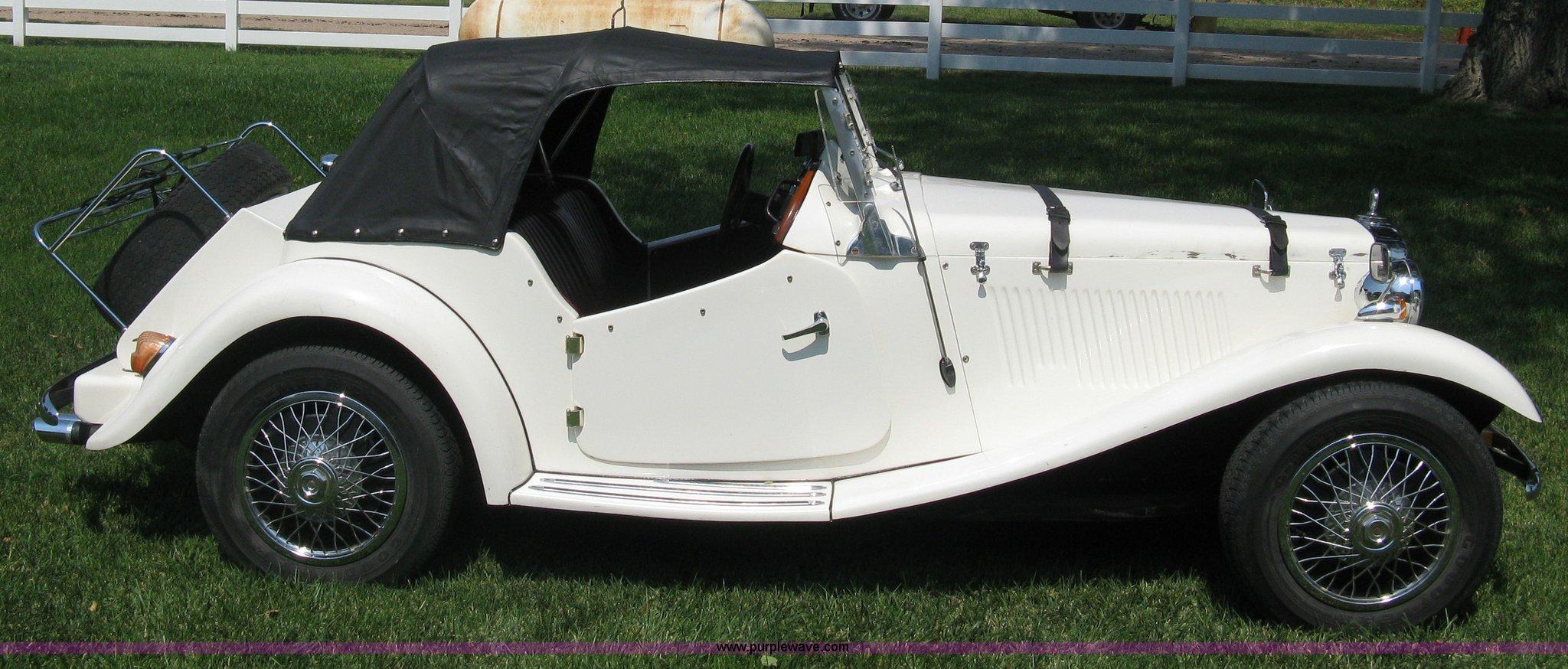 1988 1952 MG-TD replica kit car | Item B8070 | SOLD! Wednesd...