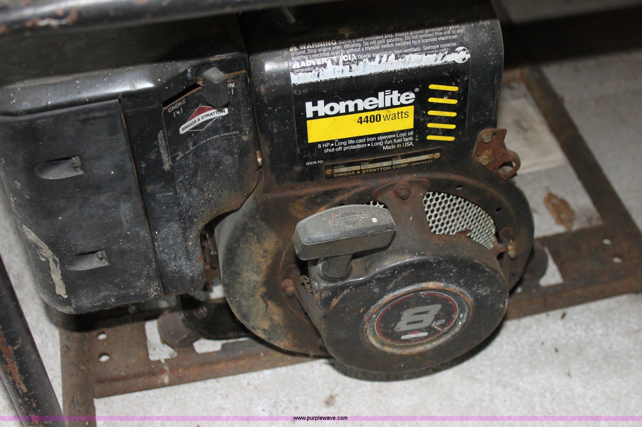 Fabulous 1999 Homelite Lr4400 Portable Generator Item N9205 Sold Interior Design Ideas Gresisoteloinfo