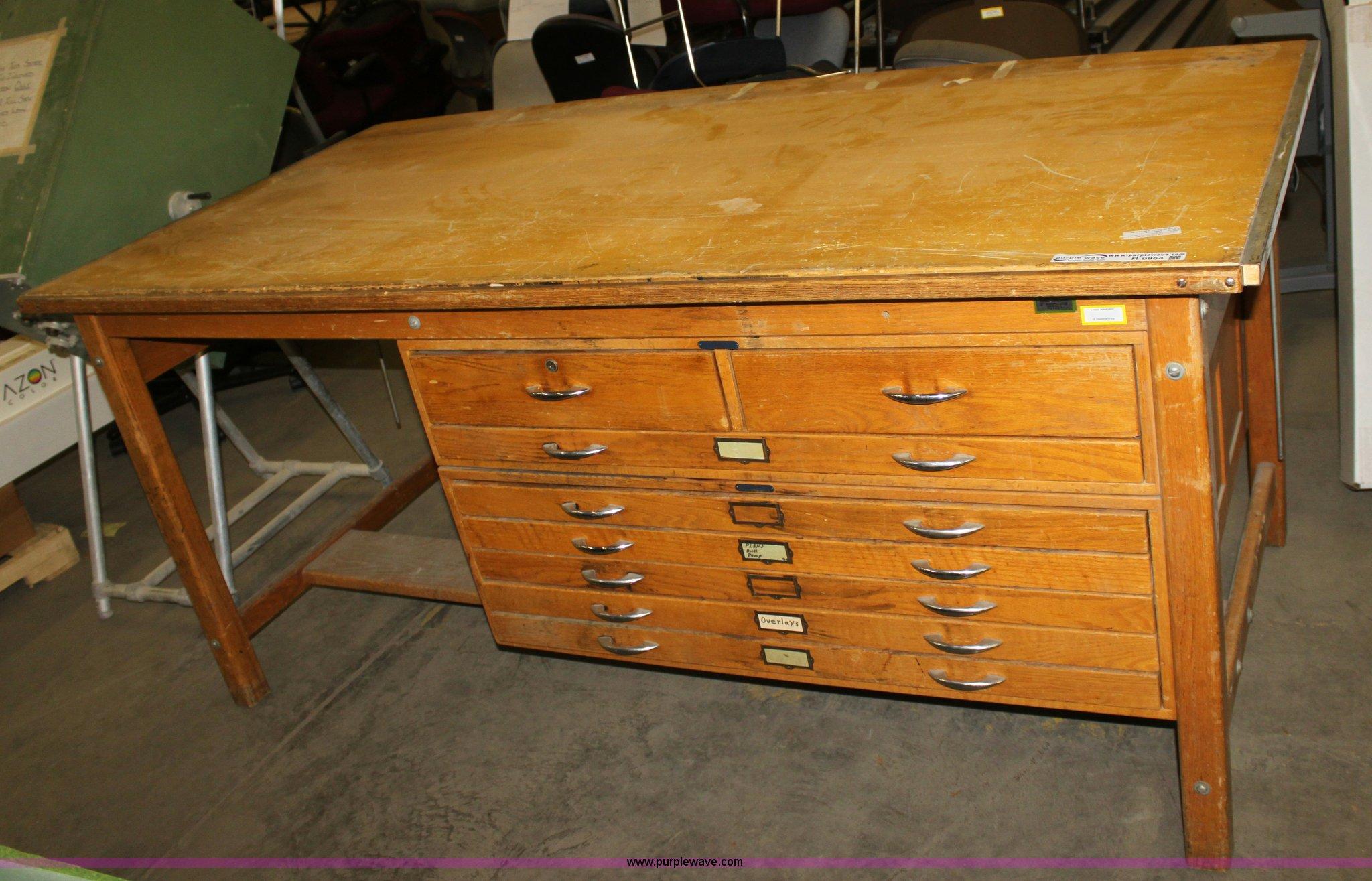 Tilt Top Wood Drafting Table Item R9864 Sold Thursday O