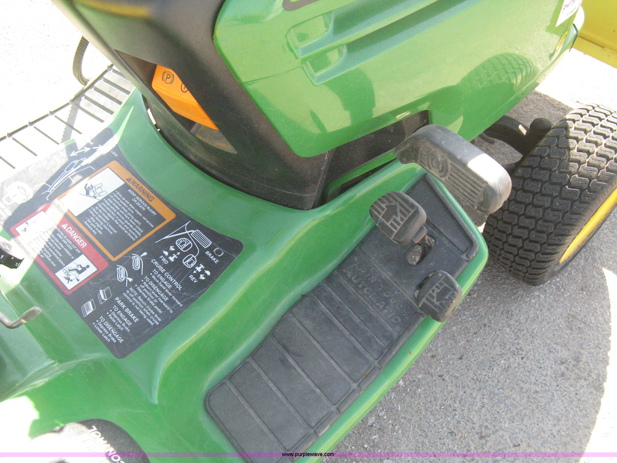 John Deere GT245 lawn mower | Item B8316 | SOLD! Tuesday Oct