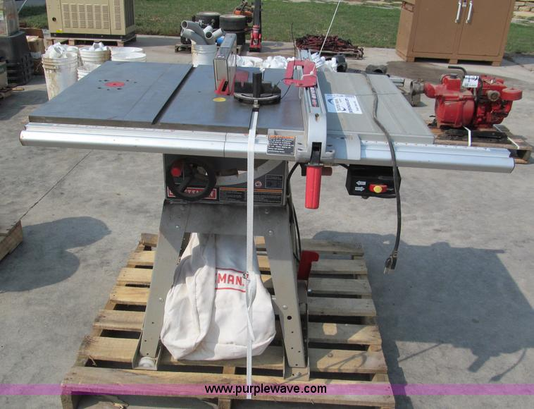 Craftsman 10 Table Saw Item E2208 Sold Wednesday