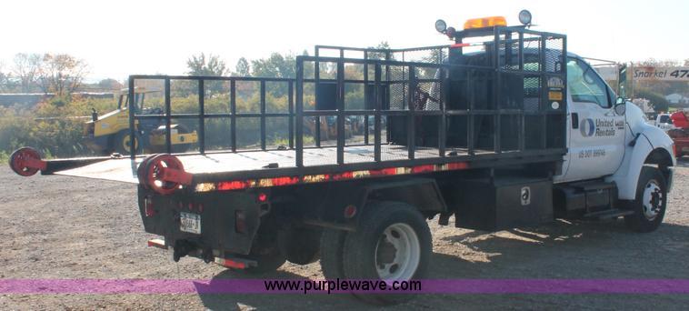 2007 ford f650 flatbed rollback truck item c2911 sold. Black Bedroom Furniture Sets. Home Design Ideas