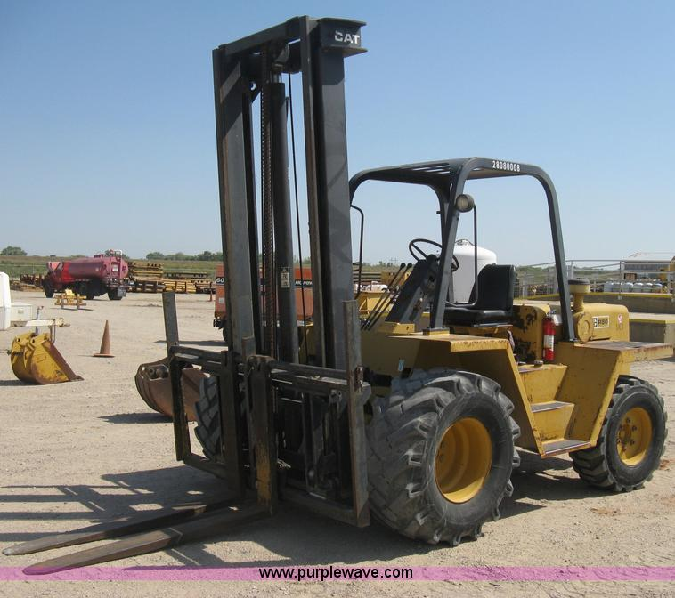 Caterpillar R80 rough terrain forklift | Item B8162 | SOLD!