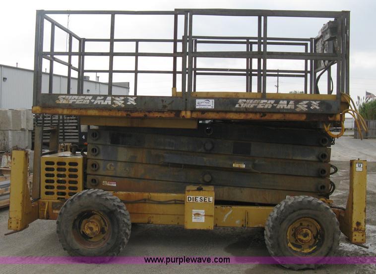 1995 grove supermax sm4688xt rough terrain scissor lift it rh purplewave com