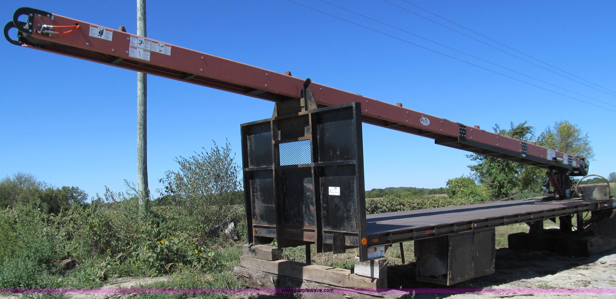 2009 Cleasby shingle conveyor | Item E3518 | SOLD! Thursday