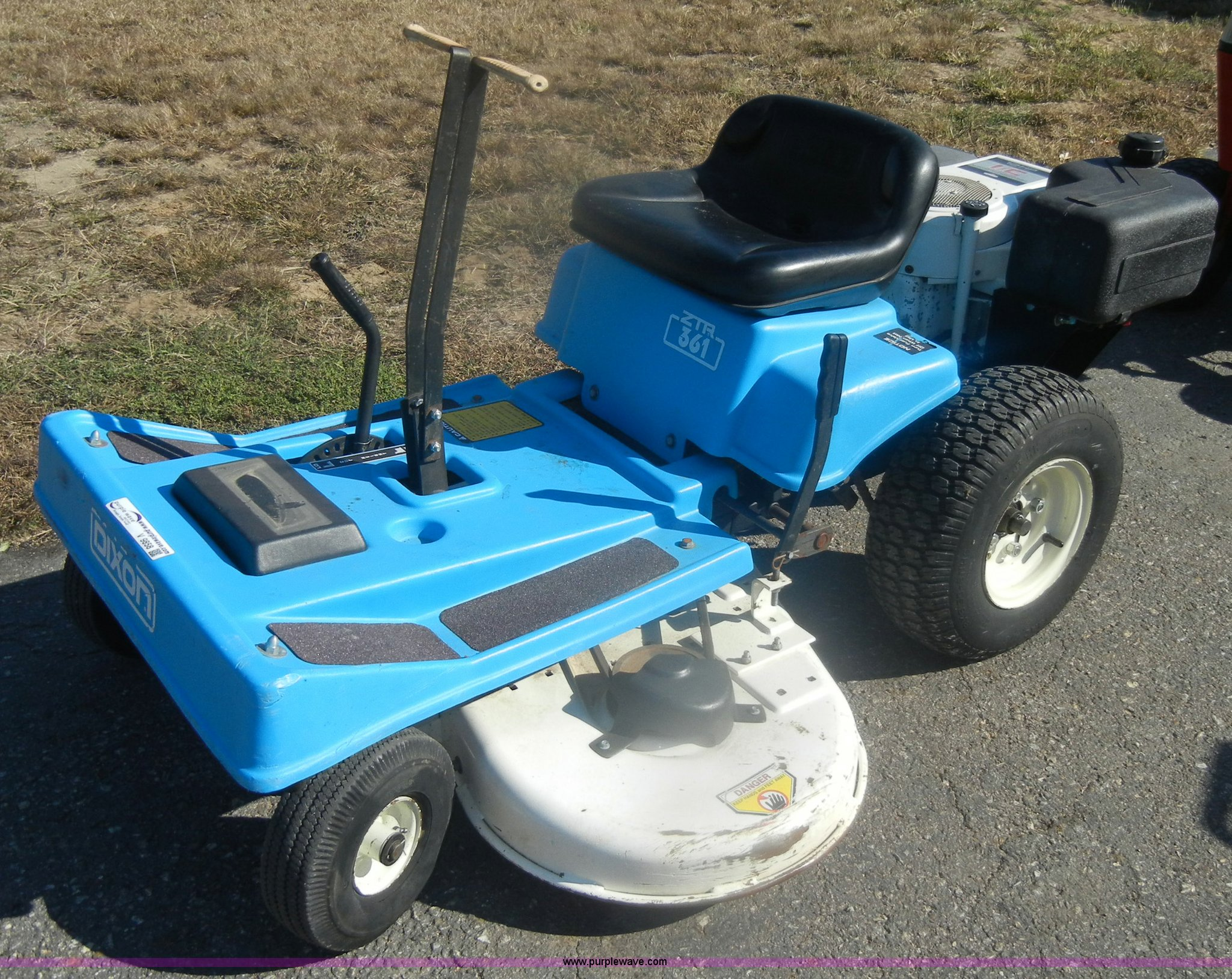... Dixon 361 ZTR lawn mower Full size in new window ...