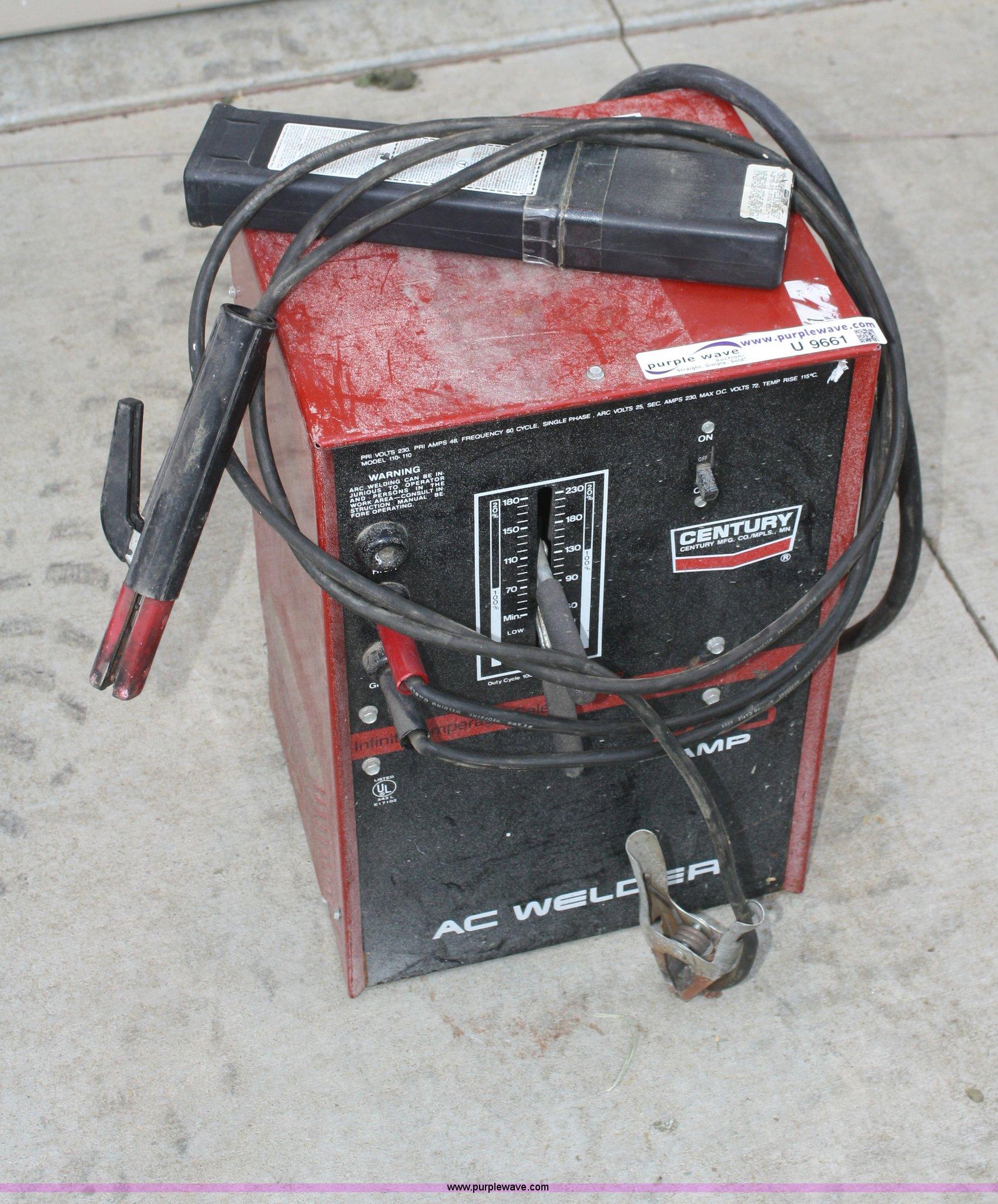 U9661 image for item U9661 Century 230 amp AC welder