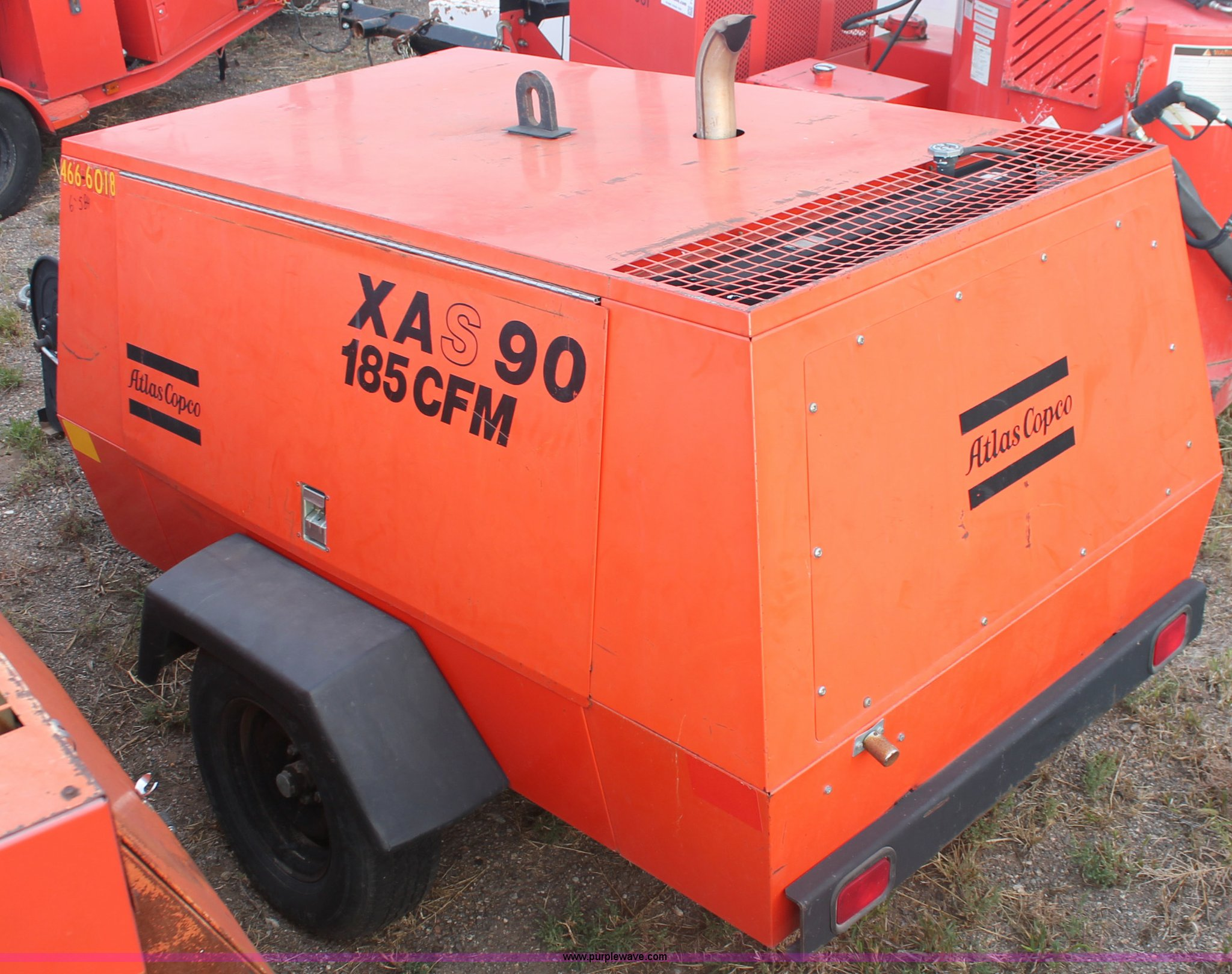 ... Atlas Copco XAS 90 JD trailer mounted air compressor Full size in new  window ...