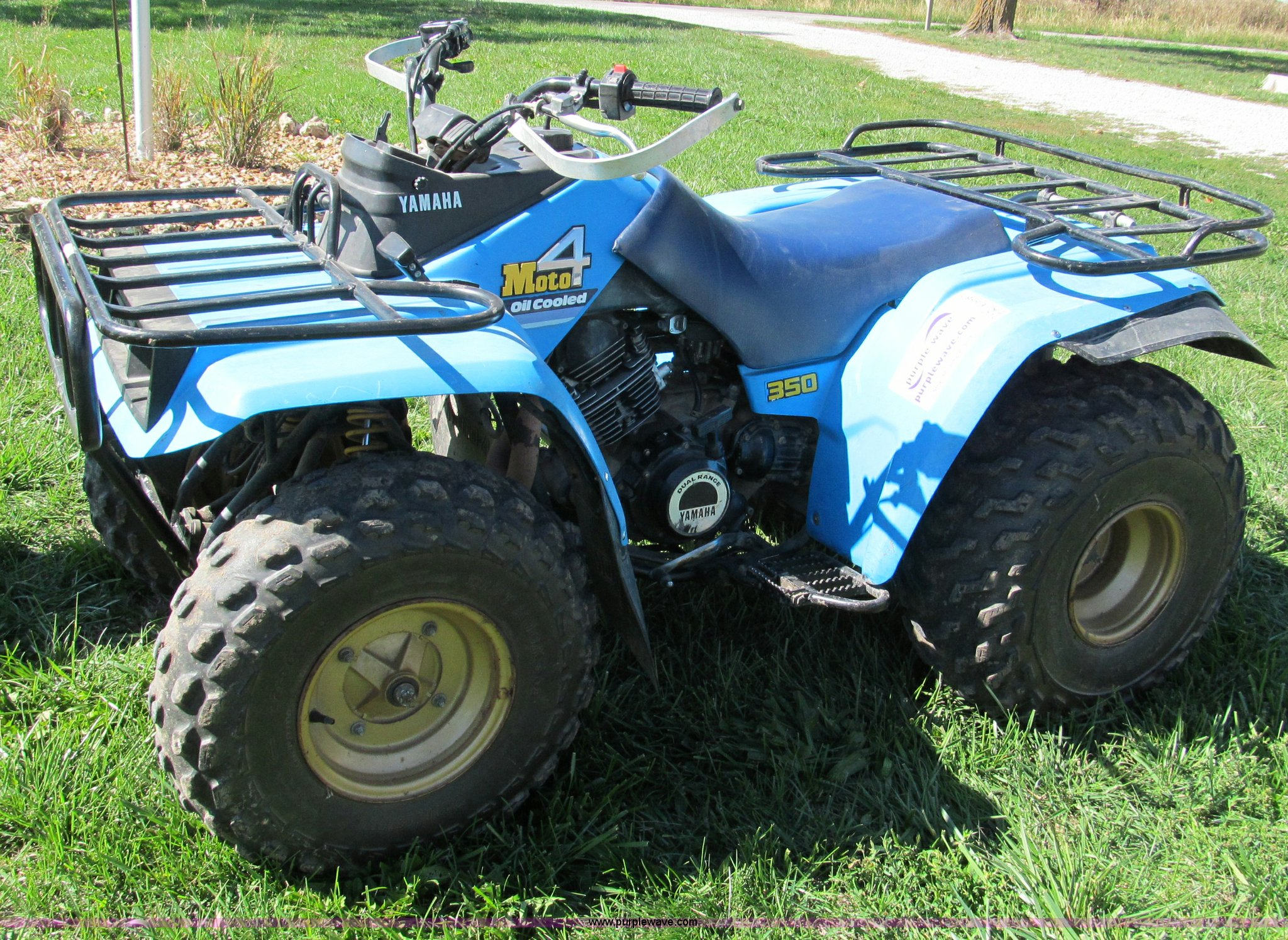 1987 yamaha moto 4 four wheeler atv item e5587 sold wed. Black Bedroom Furniture Sets. Home Design Ideas