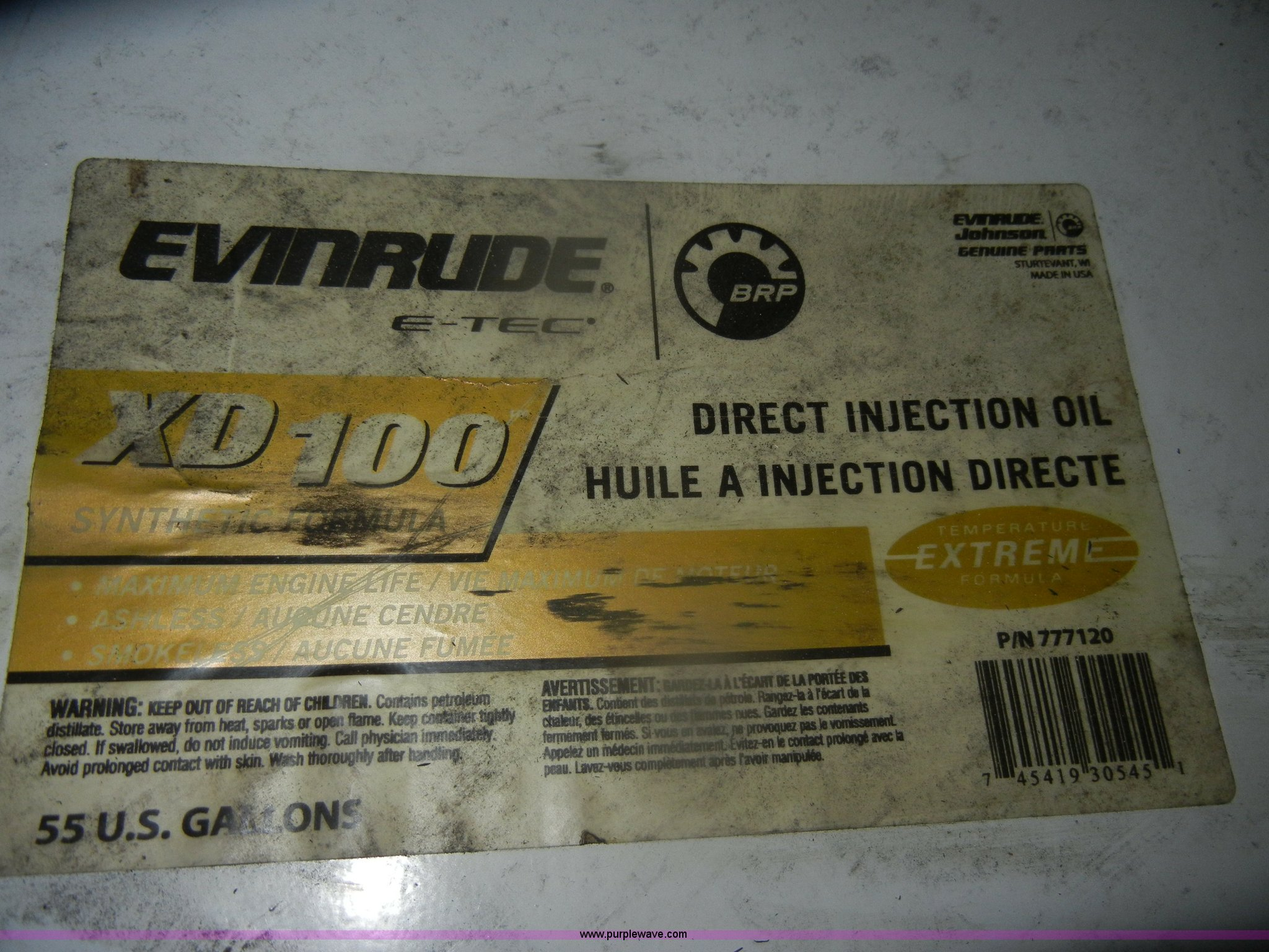 Evinrude XD100 synthetic direct injection oil | Item O9533 |