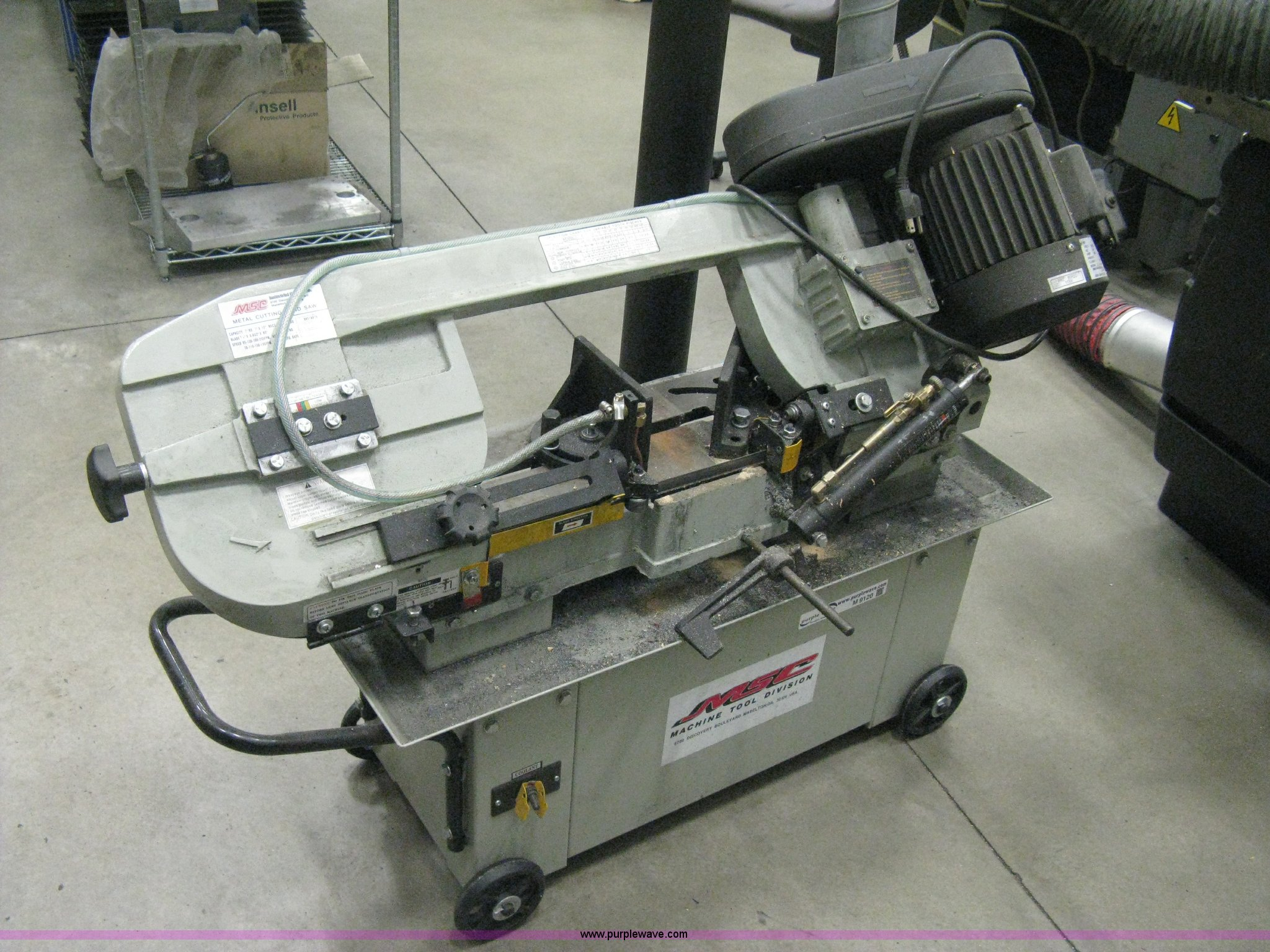 2010 MSC metal cutting band saw | Item M9120 | SOLD! Decembe